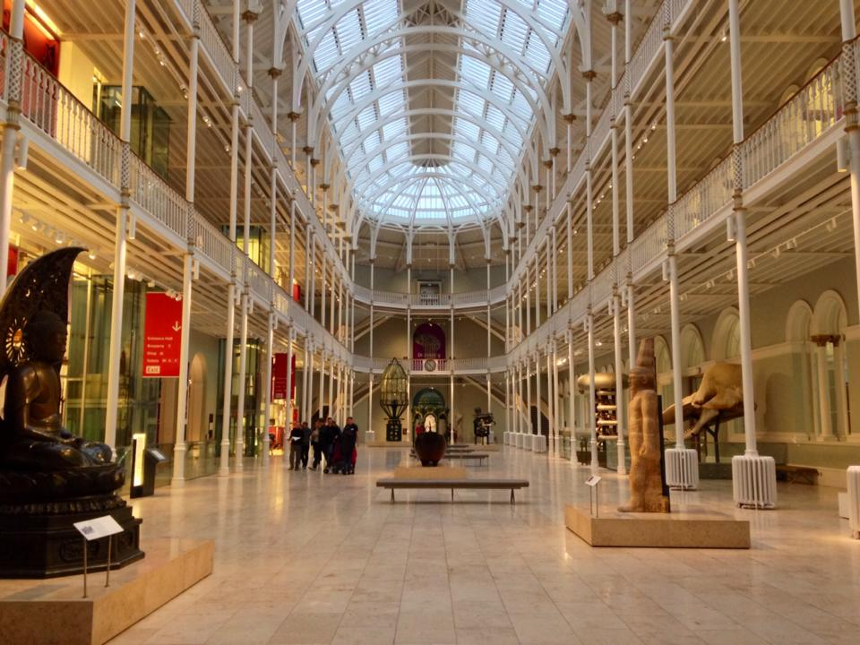 Interior of the National Museum of Scotland. This museum is only 5 minutes away form the hotel. Too bad I only had one hour and I wasn't able to visit all the exhibit.