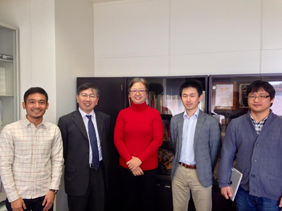 Me, Kato-sensei, Prof. Rodrigo, Yamamoto-sensei and Taketomi-sensei