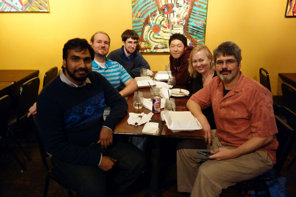 Lab members: They held a farewell party for me