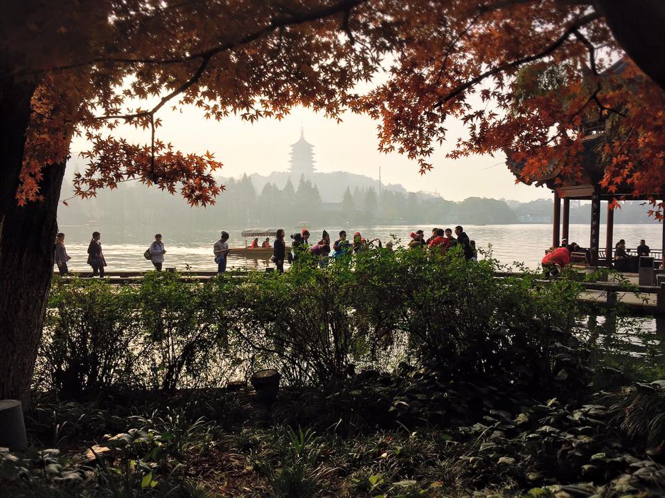 Lastly, I also enjoyed some sightseeing with the other conference participants. The main place to visit in Hangzhou is the West Lake. This place was named a UNESCO World Heritage site because of its profound influence on Chinese art, especially it's gardens.