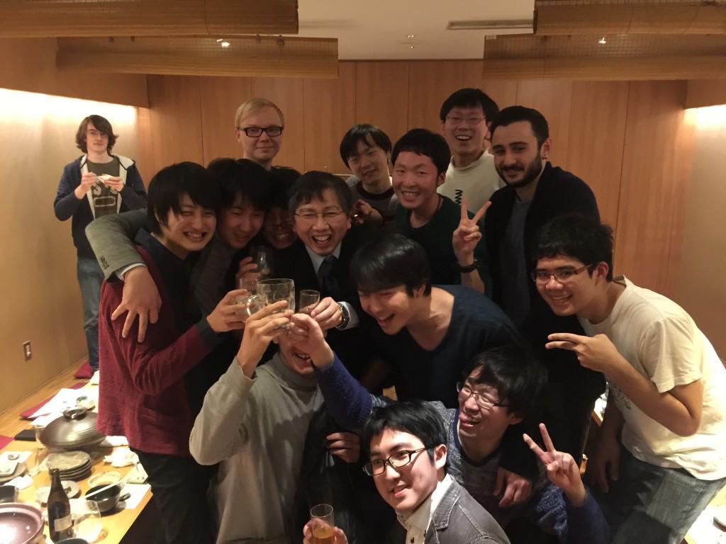 Kati-Sensei, Yamamoto-sensei, and M2, D3 students