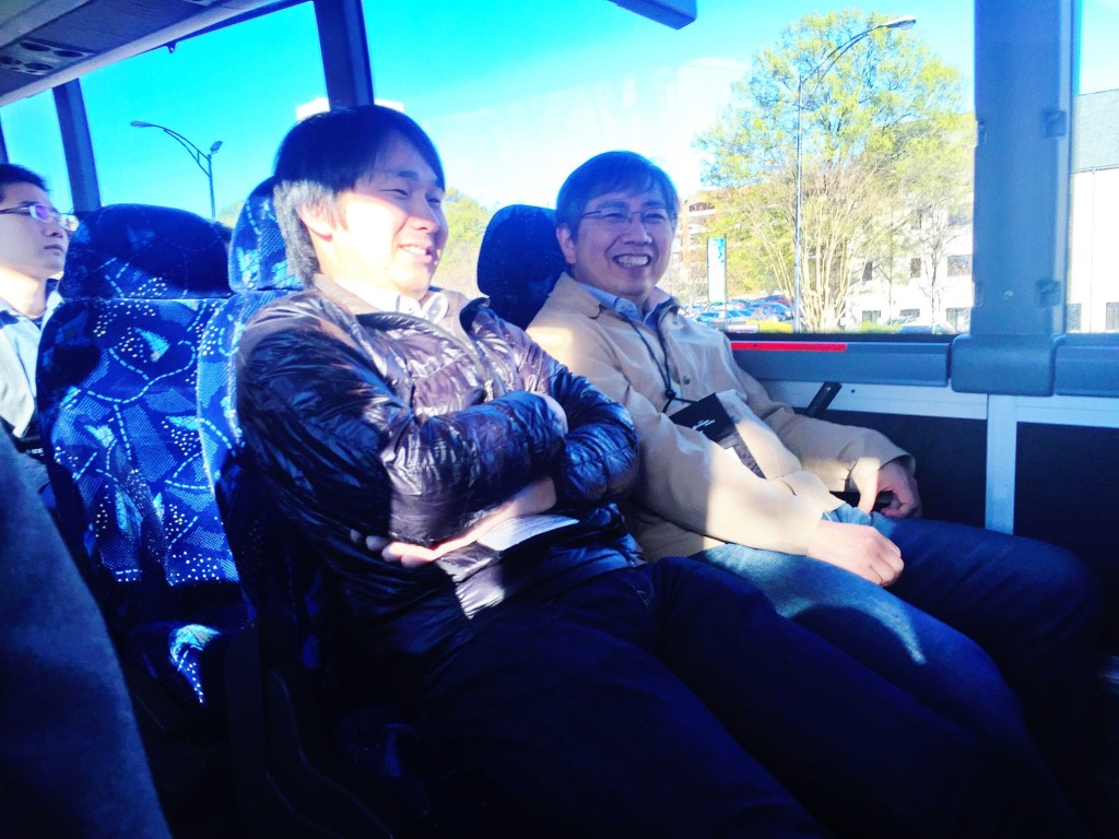 Kati-Sensei and Yamamoto-sensei on the bus