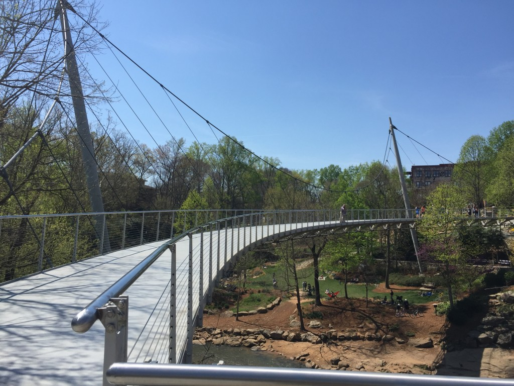 Liberty Bridge(famous bridge in Greenville)
